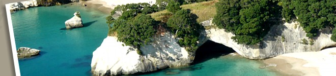 Cathedral Cove - photo: Kuaotunu Chalets holiday accommodation private and self contained Coromandel NZ